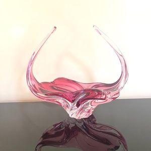 Pink Glass Decor Bowl